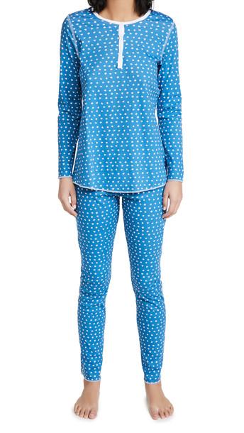 Roller Rabbit Starry Night Pajama Set in blue