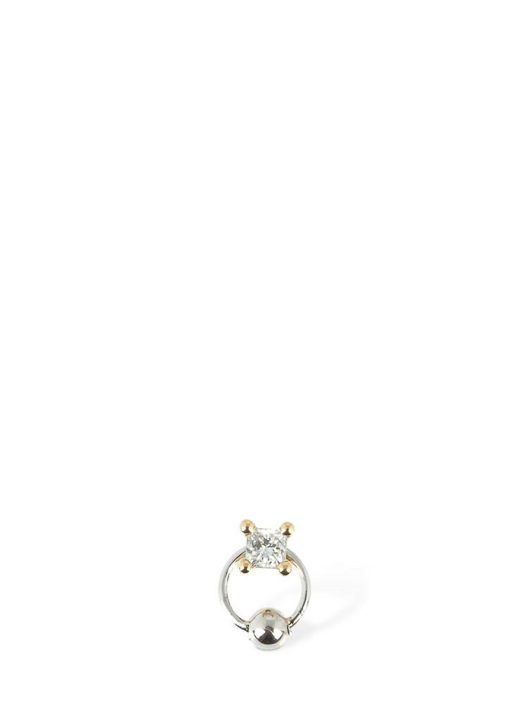 DELFINA DELETTREZ Diamond & Gold Hoop Mono Earring