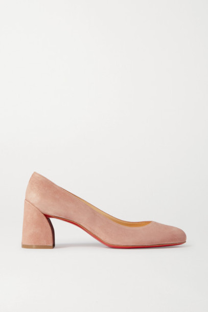 Christian Louboutin - Miss Sab 55 Suede Pumps - Neutral