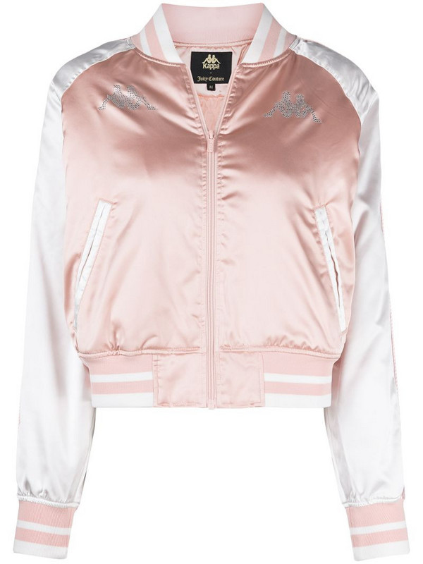 Kappa x Juicy Couture crystal-embellished bomber jacket in pink