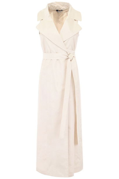 Max Mara Studio Erasmo Vest Dress in ecru