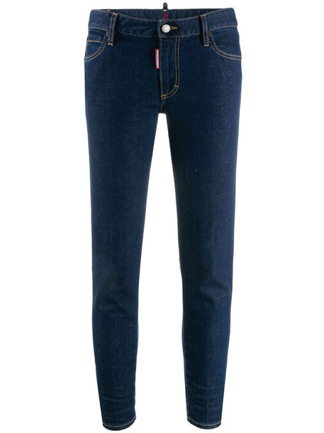 Dsquared2 Twiggy cropped jeans in blue