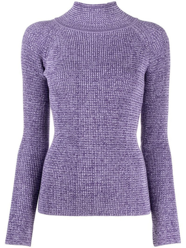 Aeron mock neck knit jumper in purple