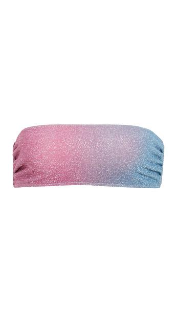 Beach Riot Kelsey Bikini Top in blue / pink