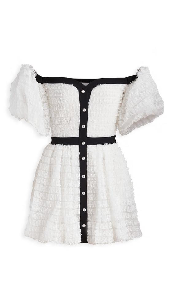 Philosophy di Lorenzo Serafini Off Shoulder Mini Dress in white