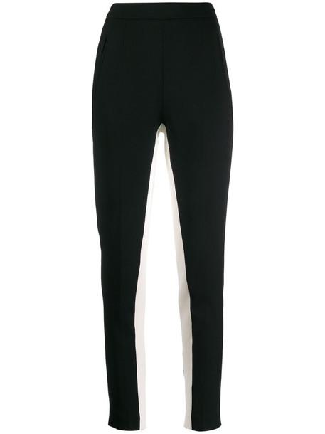 Stella McCartney side stripes skinny trousers in black