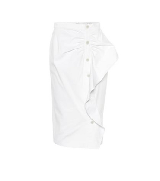 Max Mara Edmond cotton twill midi skirt in white
