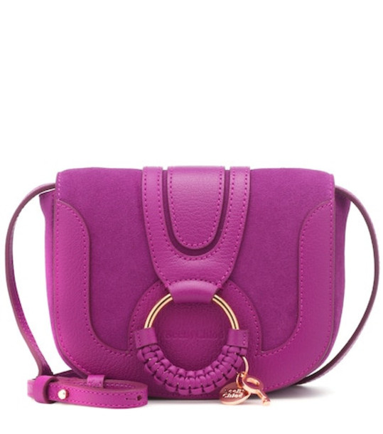 See By Chloé Hana Mini leather shoulder bag in purple