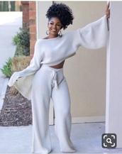 pants,white crochet
