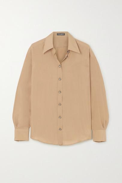 Dolce & Gabbana - Washed-silk Blouse - Beige
