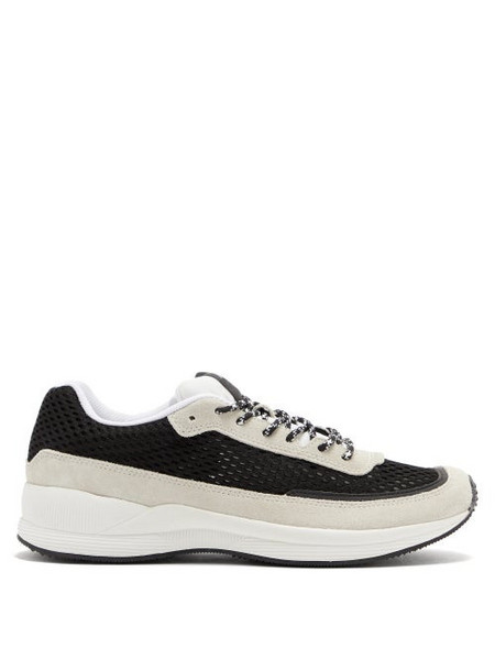 A.P.C. A.P.C. - Spencer Nylon And Suede Trainers - Mens - White Black