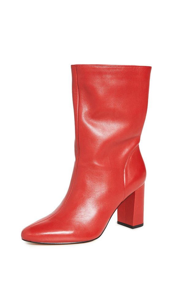 Villa Rouge Loden Boots in red