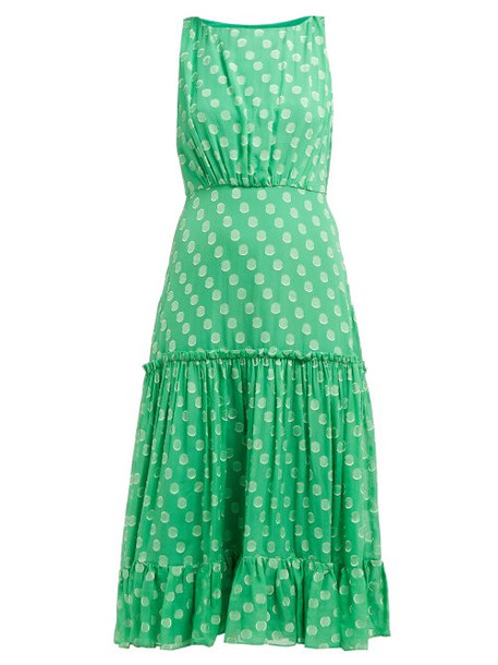 Saloni - Daria Silk Georgette Dress - Womens - Green