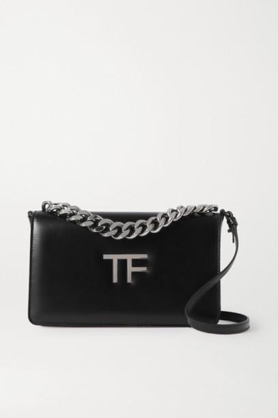 TOM FORD - Tf Chain Medium Leather Shoulder Bag - Black