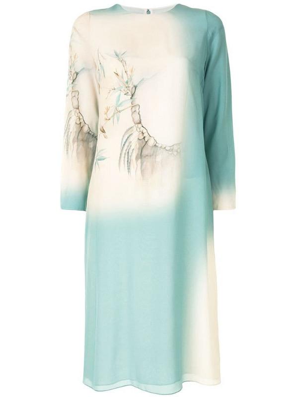 Valentino Pre-Owned bird print shift dress in neutrals