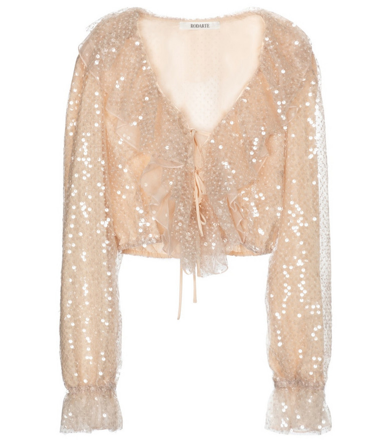 Rodarte Sequined blouse in pink