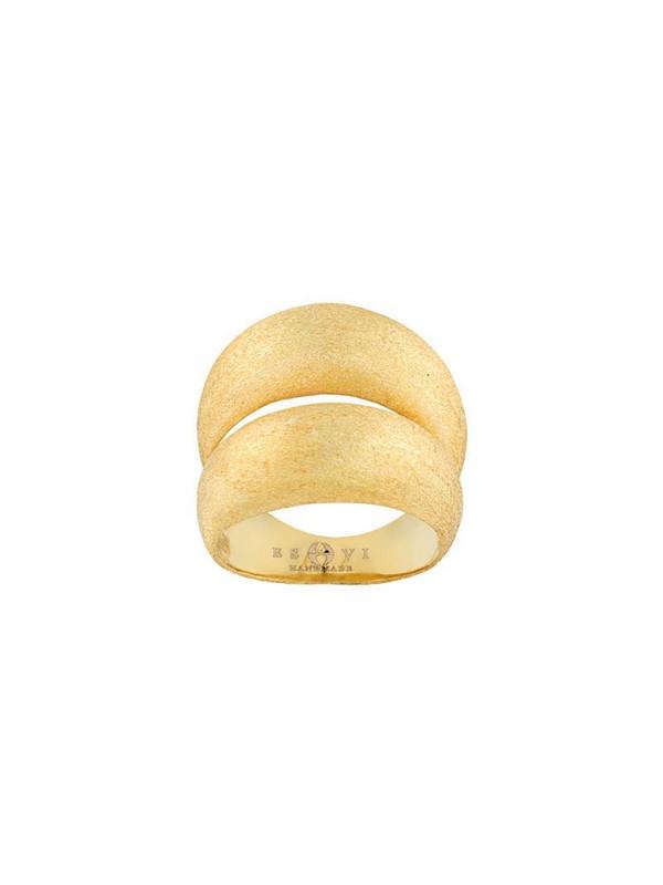 Eshvi double-loop ring in gold