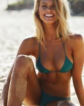 bikini top,green bikini top,swimwear