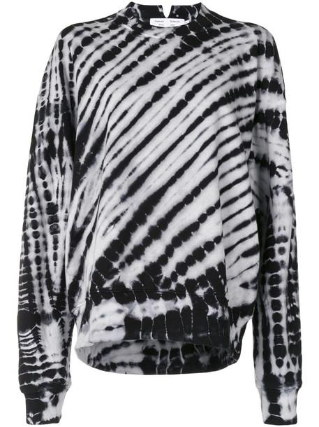 Proenza Schouler White Label tie-dye print sweatshirt in black