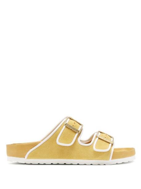 Birkenstock X Il Dolce Far Niente - Arizona Suede Sandals - Womens - Yellow
