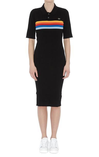 Lacoste LVE Lacoste L!ve Striped Dress in black