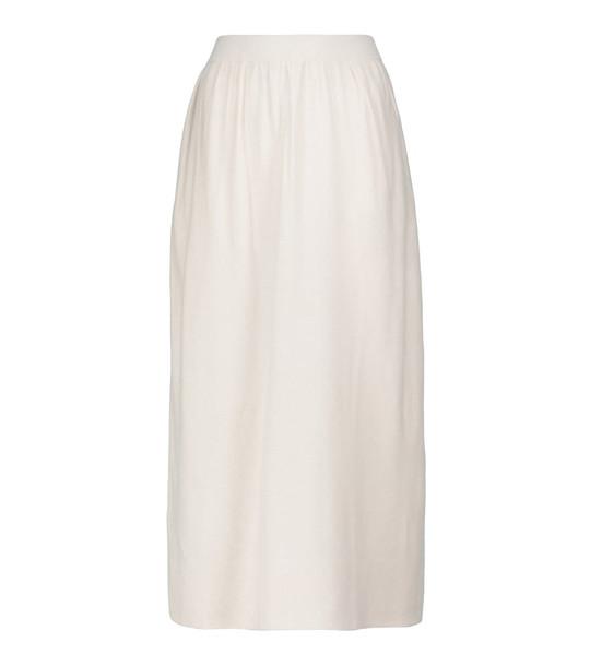 Altuzarra Hammond wool and cashmere midi skirt in white
