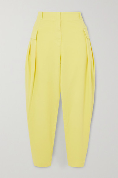 Stella McCartney - Stretch-cotton Twill Tapered Cargo Pants - Yellow