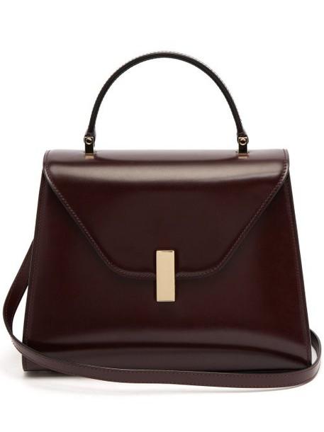 Valextra - Iside Medium Leather Bag - Womens - Burgundy