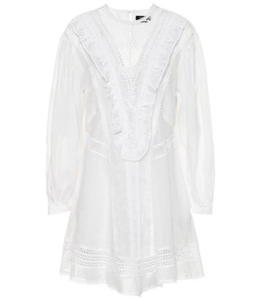 Isabel Marant Rowina ramie minidress in white