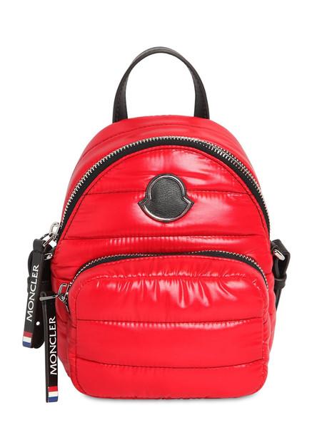 MONCLER Kilia Pm Mini Backpack in red