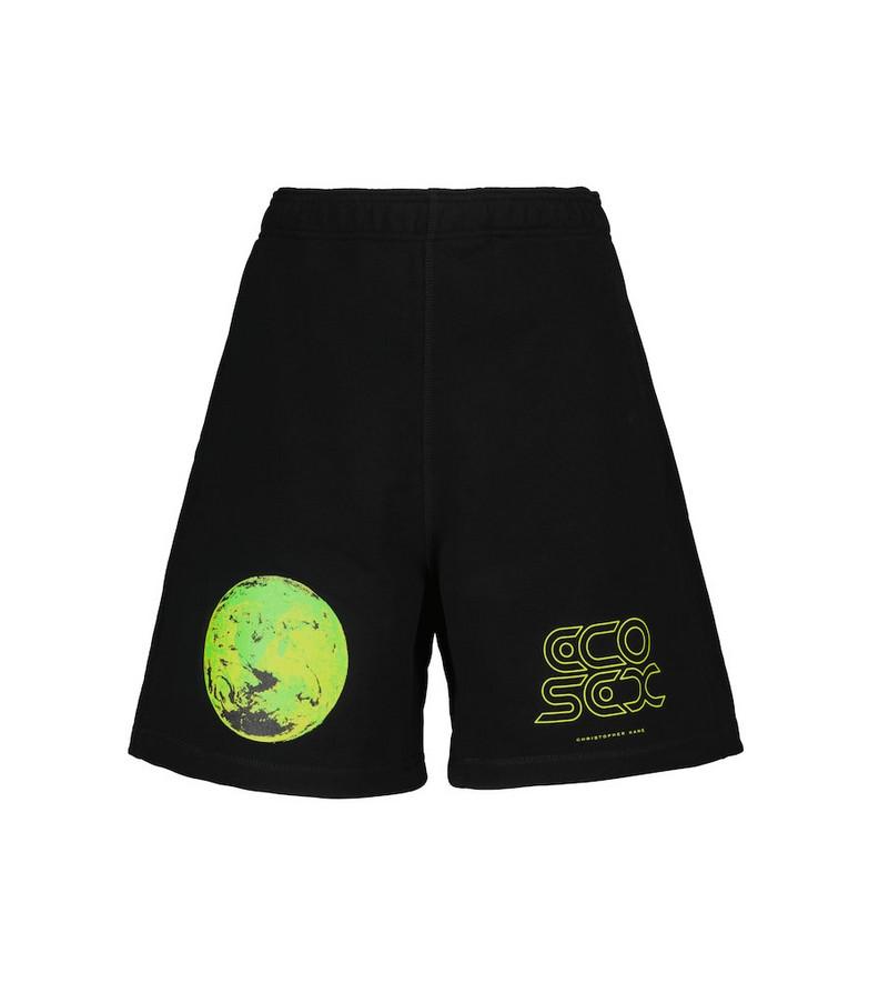 Christopher Kane Printed cotton shorts in black