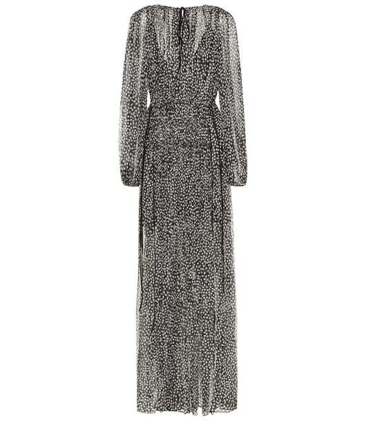 Stella McCartney Silk and metallic maxi dress in black