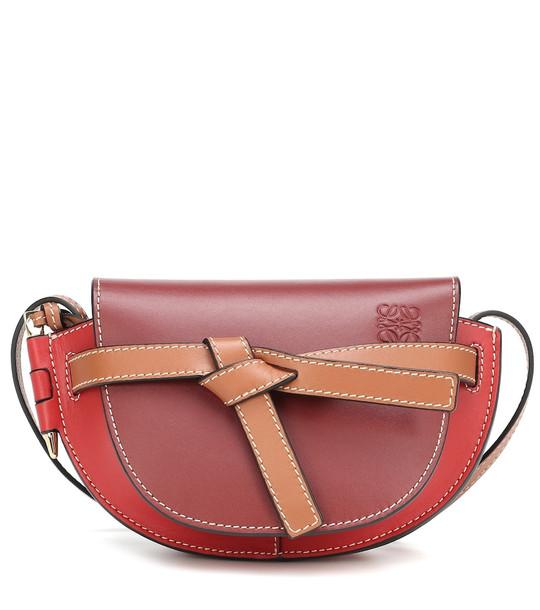 Loewe Gate Mini leather crossbody bag in red
