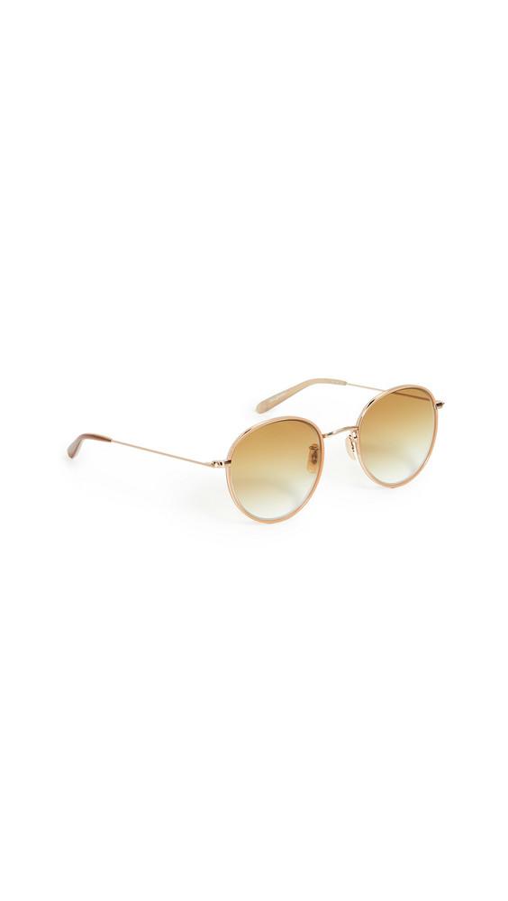 GARRETT LEIGHT Paloma Sunglasses in camel / gold