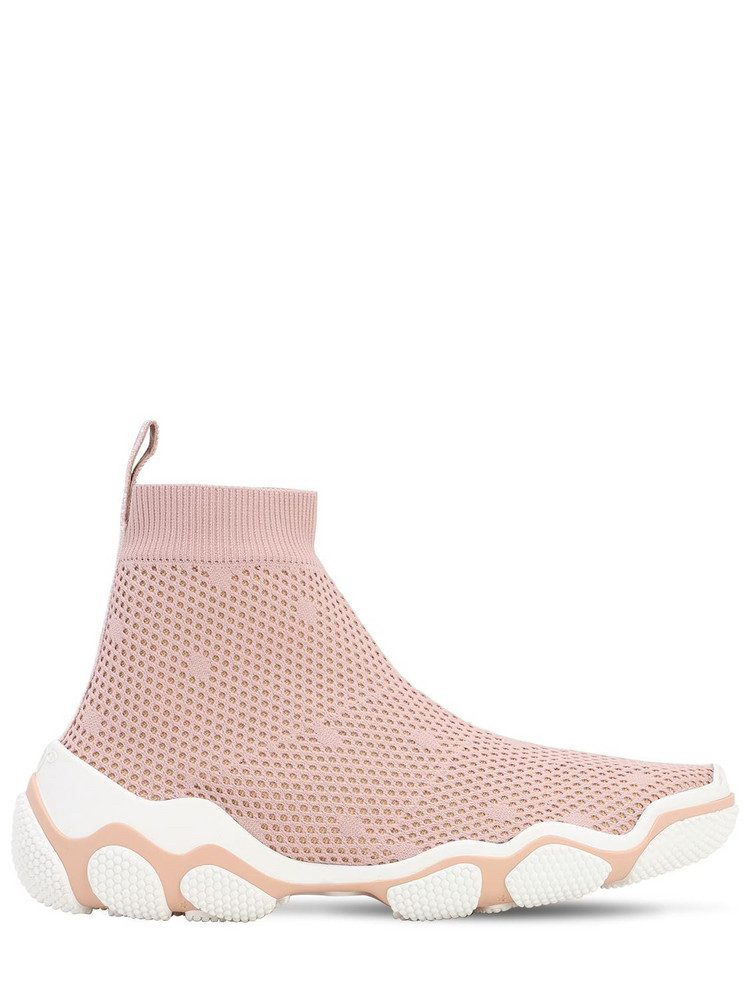 RED VALENTINO 30mm Mesh Sock Sneakers in pink