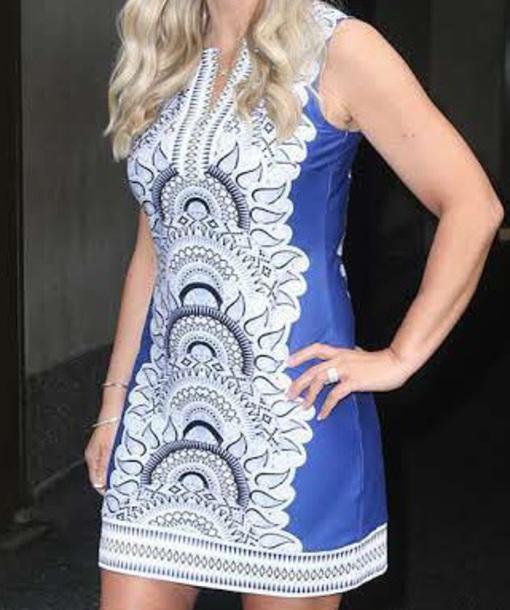 dress white and blue print kate gosselinin