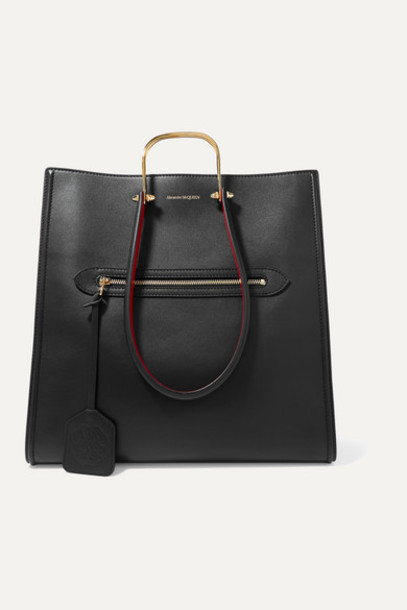 Alexander McQueen - The Story Two-tone Leather Tote - Black