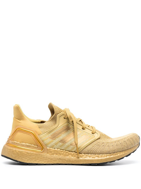 adidas gold tonal lace-up trainers
