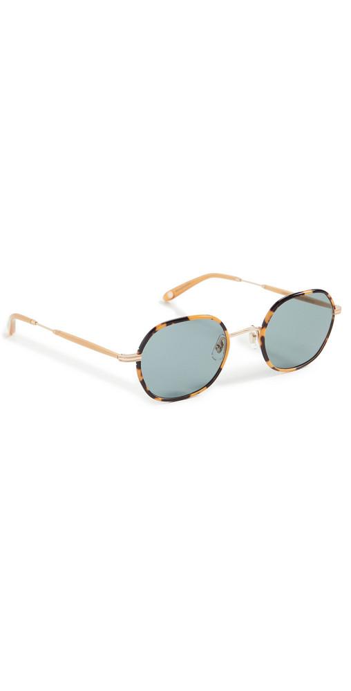 GARRETT LEIGHT Norfolk Sunglasses in gold