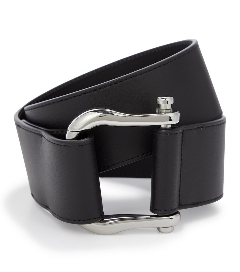 Gabriela Hearst Saddle leather belt in black