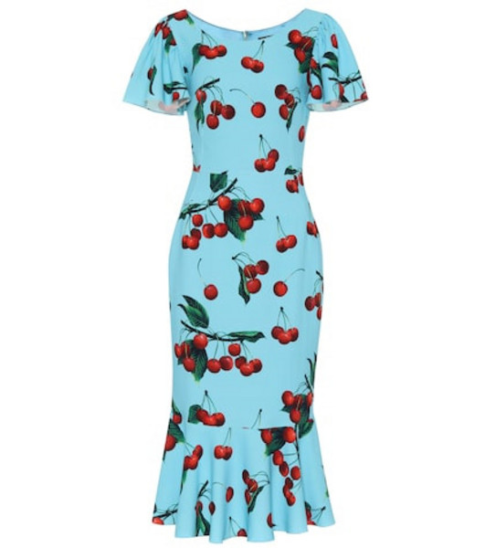 Dolce & Gabbana Exclusive to Mytheresa – cherry printed midi dress in blue
