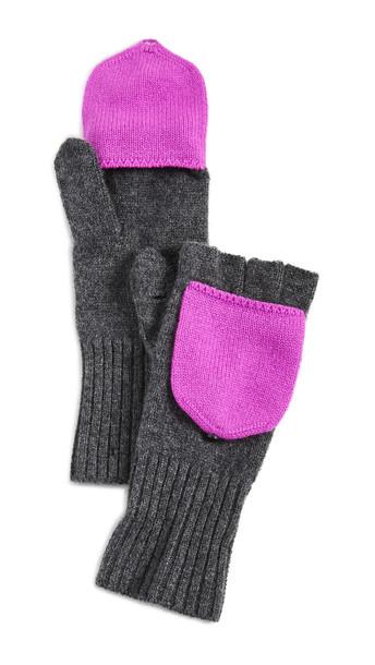 White + Warren White + Warren Pop Top Cashmere Gloves