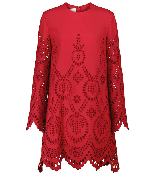 Valentino San Gallo Edition wool and silk crêpe minidress in red