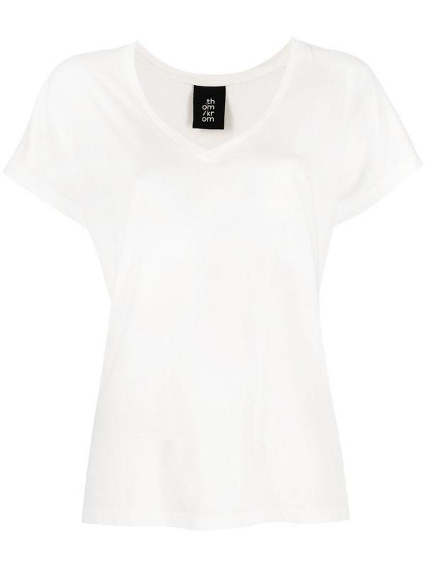 Thom Krom V-neck T-shirt in white