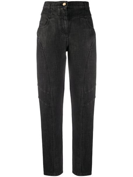 Alberta Ferretti high-waisted straight-leg jeans in grey