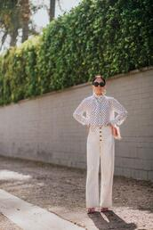 hallie daily,blogger,blouse,jeans,jewels,bag