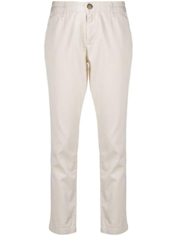 Current/Elliott low-rise slim-fit trousers in neutrals