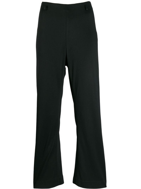 Prada Pre-Owned 1990's kickflare cropped trousers in black