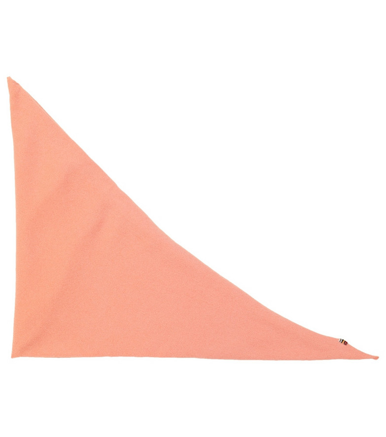extreme cashmere Cashmere-blend triangle scarf in pink