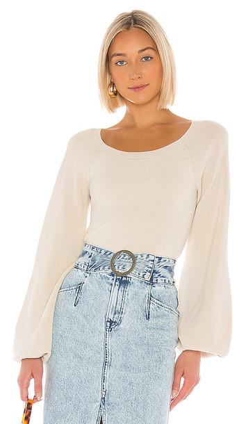 AMUR Forrest Sweater in White